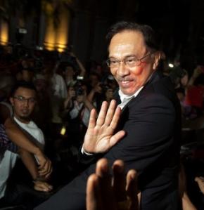 Malaysian opposition leader Anwar Ibrahim - Zaharie's friend.