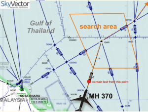 SkyVector search area, the ocean here is around 80-100m deep, so divers could reach the remains if required.