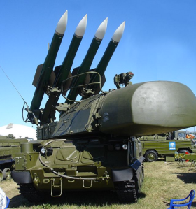 A Buk-M1-2 SAM system 9A310M1-2 TELAR at 2005 - courtesy Wikipedia