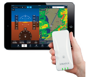 Courtesy Sporty's - the Stratus ADS-B receiver for weather uploads to the iPad.