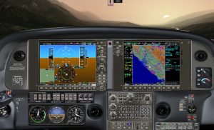 Garmin G1000 - PFD on left, MFD on right.