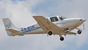 ZS-BOR, taking off at Lanseria.  Image Courtesy Avcom.