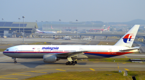 Flight MH370, a Boeing 777-260, registration 9M-MRO which disappeared a year ago.  Courtesy of Plane spotters.