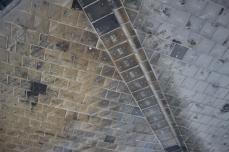 Tiles burnt black